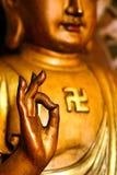 Рука Будды Азии Стоковые Фотографии RF