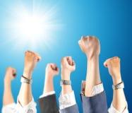 Рука вверх в воздухе Стоковая Фотография RF