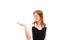рука вверх по женщине Стоковое Изображение RF