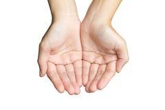 Рука взгляд сверху пустая Стоковое Фото