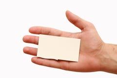 рука визитной карточки Стоковая Фотография RF