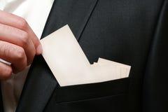 рука визитной карточки Стоковые Изображения RF