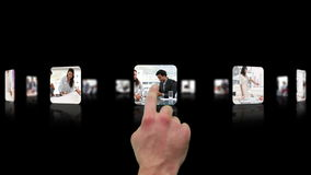Рука выбирая зажимы о деловой встрече акции видеоматериалы