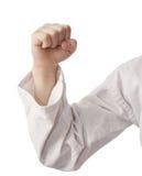 Рука в кимоно, кулачке Стоковые Фотографии RF