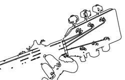 Рука гитариста на Fretboard иллюстрация вектора