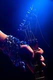 рука гитары крупного плана Стоковое Изображение RF