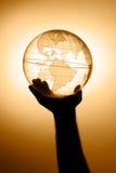 рука глобуса Стоковое Фото