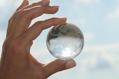 рука глобуса Стоковое Изображение RF