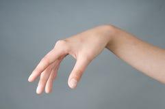 рука девушки имеет открытое Стоковая Фотография