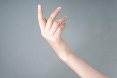 рука девушки имеет открытое Стоковые Изображения