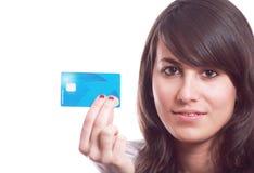 рука девушки кредита карточки Стоковые Изображения RF