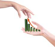 рука диаграммы растущая стоковые фотографии rf