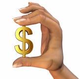 рука доллара Стоковая Фотография