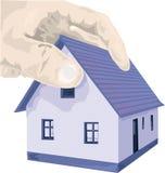 Рука дома иллюстрация вектора