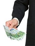 рука евро кредиток Стоковые Изображения