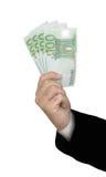 рука евро кредиток Стоковое Фото