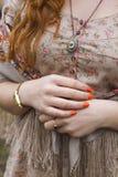 Рука девушки Стоковое фото RF