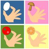 рука еды бесплатная иллюстрация