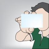 Рука держа вектор карточки Стоковое Фото