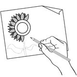 Рука держа вектор плана чертежа карандаша цвета иллюстрация штока