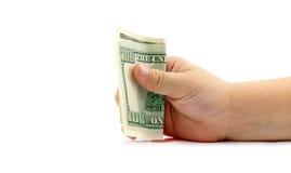 Рука держа деньги Стоковые Изображения RF