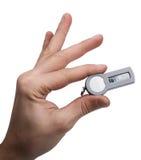 Рука держа знак внимания безопасностью Стоковая Фотография
