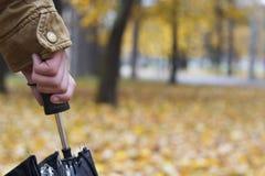 Рука держа зонтик Стоковая Фотография