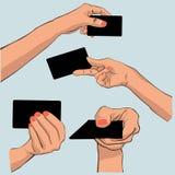 Рука держа карточку Стоковые Изображения