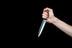 Рука держа кинжал изолировано Стоковые Фотографии RF