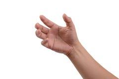 Рука держа незримые вещи Стоковое Фото