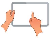 Рука держа ПК сенсорной панели Стоковые Изображения RF
