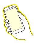 Рука держа умный телефон Стоковые Фотографии RF