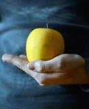 Рука держа яблоко Стоковые Фотографии RF