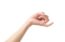 Рука делая знак обещания pinkie с мизинцем изолировала whit Стоковая Фотография RF