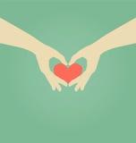 Рука делая символ сердца Стоковое Изображение