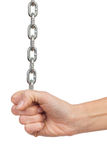 Рука женщины вытягивая цепь Стоковые Фотографии RF