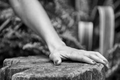Рука женщины в черно-белом Стоковые Фотографии RF