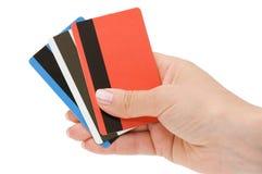 рука женщины кредита карточки Стоковое Изображение RF