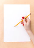 рука женщины чертежа Стоковые Фотографии RF