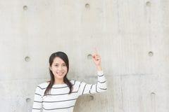 Рука жеста женщины стоковое изображение
