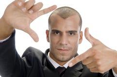 рука жеста рамки делая детенышей человека Стоковые Изображения