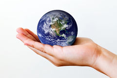 рука земли Стоковое фото RF