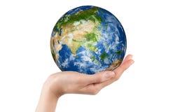 рука земли Стоковая Фотография RF