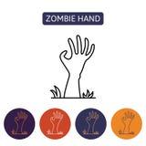 Рука зомби от ада Стоковое фото RF