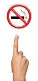 рука зоны отсутствие показывая курить Стоковая Фотография