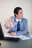 Рука используемая для того чтобы излучить кто-то Стоковое Изображение