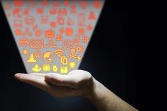 Рука испуская угрозы безопасностью Стоковое фото RF