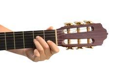 Рука и гитара Стоковые Изображения RF