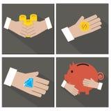 Рука и деньги Стоковая Фотография RF