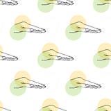 Рука и круги иллюстрации картина безшовная иллюстрация вектора